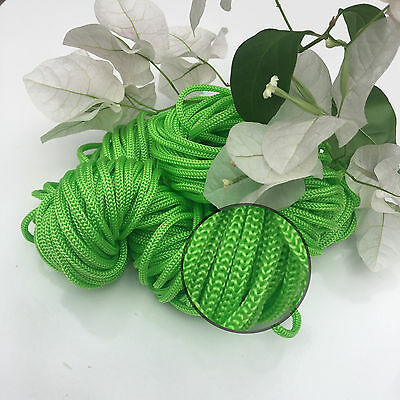 LIME GREEN - 30m Colourful Braided Nylon Rope - Macrame/Wall/Pot/Hanging