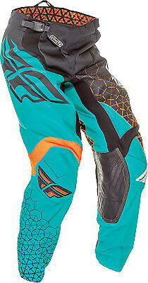 Fly Racing 16 Kinetic Trifecta Teal Motocross Offroad Motorcycle Riding Pant 36