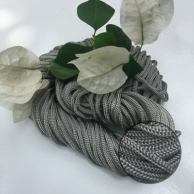 STEEL - 30m Colourful Braided Nylon Rope - Macrame/Wall/Pot/Hanging
