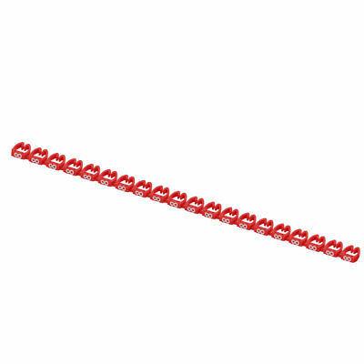 20 Pcs Letters 8 Network Cable Labels Markers Red for 6.0-10.0mm Dia Wire