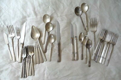 36 pieces mixed ROGER ONEIDA triple-plate Silverplated Silverware