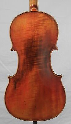 Vintage Old antique 4/4  Violin  One Piece Back Strad Copy