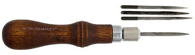 Metal Complex Interchangeable Leather Awl Set - 4 in 1