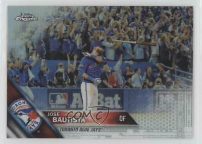 2016 Topps Chrome Refractor #191 Jose Bautista Toronto Blue Jays Baseball Card