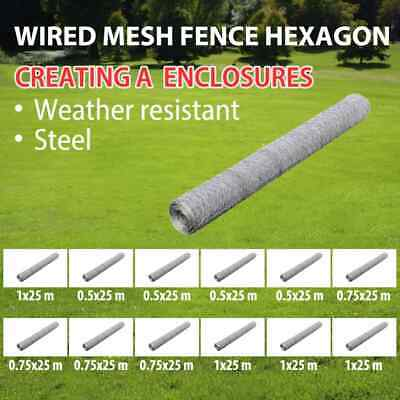Galvanised Wire Netting Mesh Poultry Fencing Chicken Coop Multi Sizes