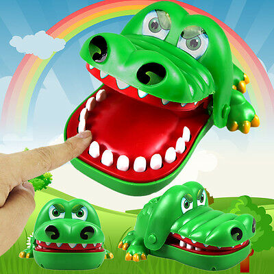 "Large""Crocodile Mouth Dentist Bite Finger Game Fun Playing Toy Kid Children*"
