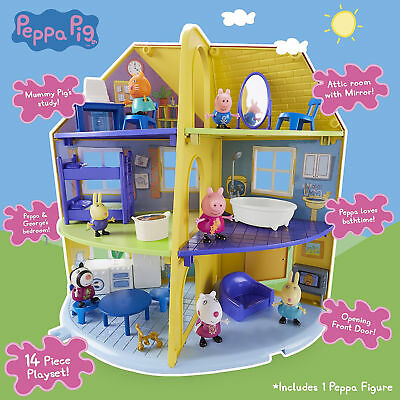 New Peppa Pig 06384 Peppa's Family Home Playset House Toy Children Role Play Set