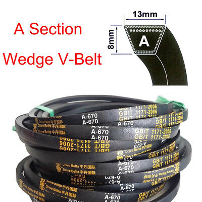 8mmx13mm V Belt  A Section Sizes A15-A59 High Quality For Industrial LawnMower