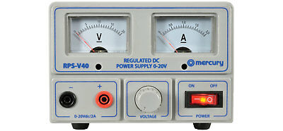 bench power supply 0-20V 02A single output fully adjustable LAB PSU twin meter