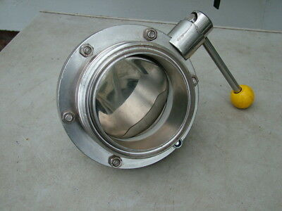 new stainless steel 4 inch hygienic buttery fly valve RJT thread food 316 grade