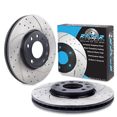FRONT DRILLED GROOVED 285mm BRAKE DISCS FOR VAUXHALL VECTRA C 2.2 1.9 CDTI 16V