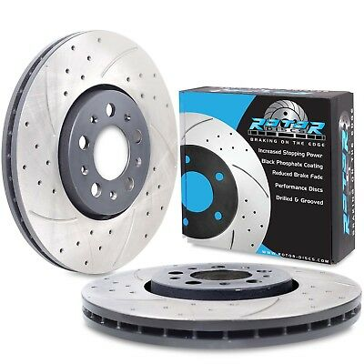 FRONT DRILLED GROOVED 288mm BRAKE DISCS FOR AUDI A1 A3 SPORTBACK 8L 1.8T TURBO