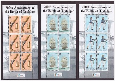 British Indian Ocean Territory MNH 2005  Battle of Trafalgar War 6 sheets set
