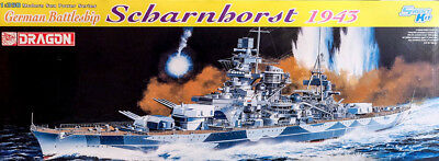 1943 Scharnhorst Schlachtschiff Battleship 1:350 Model Kit Bausatz Dragon 1040