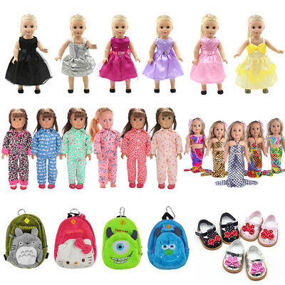 """Fit 18"""" American Girl/Madame Alexander/Our Generation/My Life Doll Clothes Dress"""