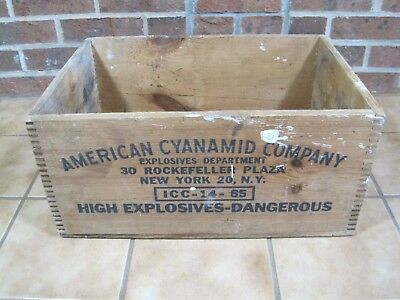Vintage American Cyanamid Co. High Explosives Dynamite Box Crate B7464