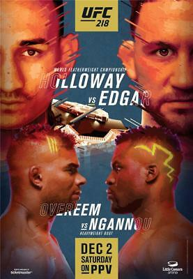UFC 218 PPV Official Event Poster 28X37 THE UFC STORE HOLLOWAY VS. EDGAR