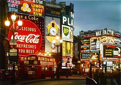 Elmar Ludwig Fine Art Photo Print 72x54cm Piccadilly Circus London 1960s Signed