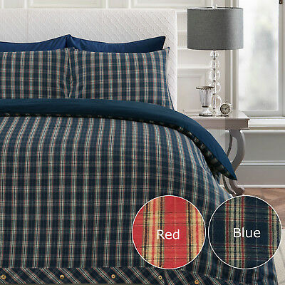 Superior Heavy Flannel 100% Brushed Cotton Thermal Flannelette Duvet Cover Set