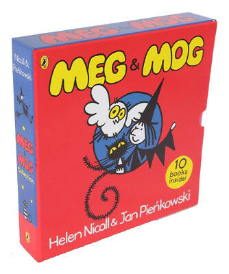 Meg and Mog Children Book 10 Book Collection Gift Box Set Helen Nicoll Brand NEW