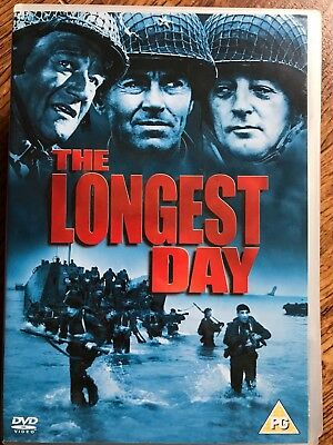 The Longest Day DVD 1962 World War II WW2 Movie Film D-Day 6th June Classic