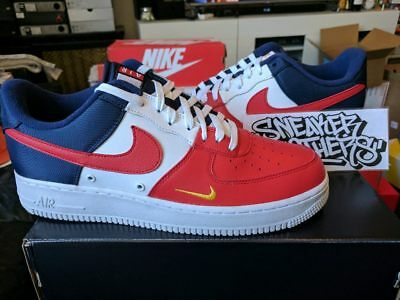 8c3424d4373bb5 NIKE AIR FORCE One 1  07 LV8 Low Red Navy Gold Blue White 4th of ...