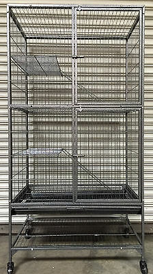 NEW 4 Level With Large Double Front Doors For Feisty Ferret Chinchilla Cage 496