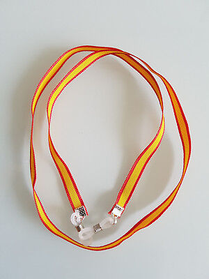 CORDÓN CINTA GAFAS Bandera de España Necklace Sunglasses Spain Flag