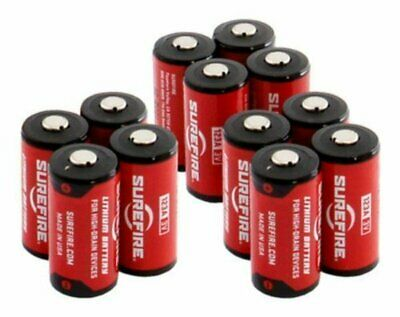 Surefire (12) 123A Lithium 3V Batteries for Flashlights #SF12-BB