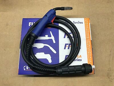 Blue Mb15 3M Mig Torch Gun Euro Fitting Gas Gasless Lance Binzel Style 3 Metre