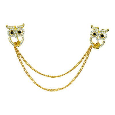 Evelots Owl Sweater, Shawl, Cardigan Clip Pin, Jewelry, Goldtoned