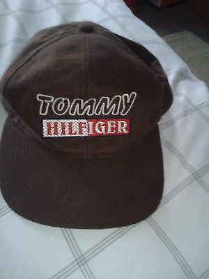 Tommy Hilfiger Brown Baseball Cap Bnwot Snap Fastening