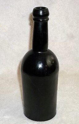 REDUCED MARKED Black Glass Porter Bottle NEWBURGH GLASS CO. PAT FEB 27 1866