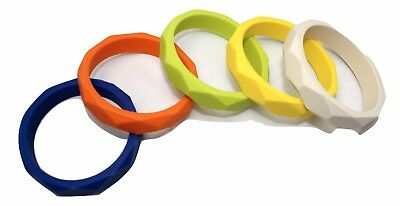 Silione teething Bangle bracelet sensory Stim Autism Mum Jewellery Australia
