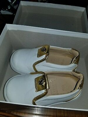 Authentic Young Versace Toddler Shoes sz 21 usa 4.5-5.5