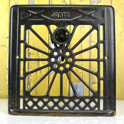 Antique Jones Metal Wall Heat Register Cover Ornate Victorian Design