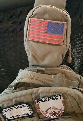 Usa  Flag Reverse Green & Gold Combat Swat Tactical Morale   Patch Hook And Loop