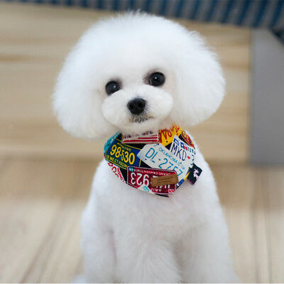 1 X Pet Print Adjustable Neck Collar Dog Cat Bandana Neckerchief Scarf 23cm