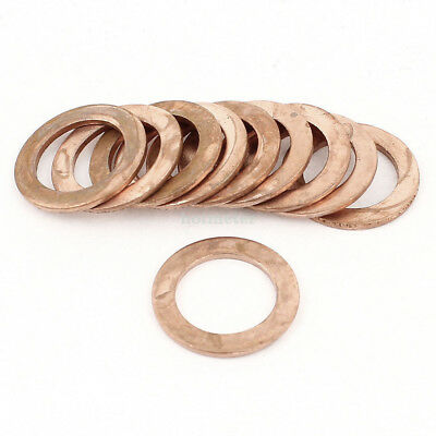 10Pcs 20mm Inner 30mm OuterDia 2mm Copper Flat Washer Spacer Seal Ring Fasteners