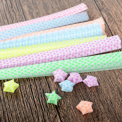 3Pack Origami Lucky Wish Star Paper Strips Luminous Folding Ribbons Plastic Nice
