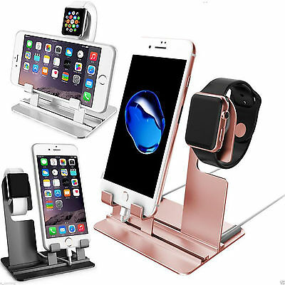 Aluminum Charger Holder Stand Charging Dock Station For Apple iWatch iPhone X 8