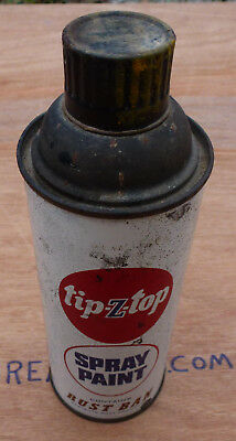 Vintage Tip-Z-Top Rust Ban Spray Paint Can tin enamel