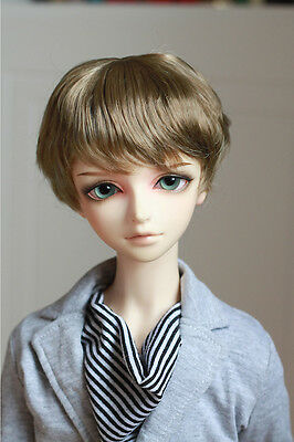 MFT WIG for bjd super dollfie 8-9 1/3 doll use light brown synthetic mohair