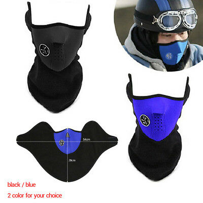 Winter Motorcycle Ski Half Face Mask Fleece Windproof Warm Cover Neck Guard