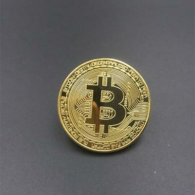 Collectible Golden Bitcoin Commemorative Plated coin Christmas friend novel gift