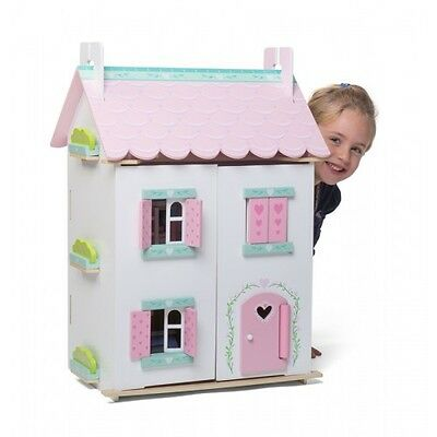 NEW Le Toy Van Sweetheart Cottage with Furniture - Kids Girls Wooden Dolls House
