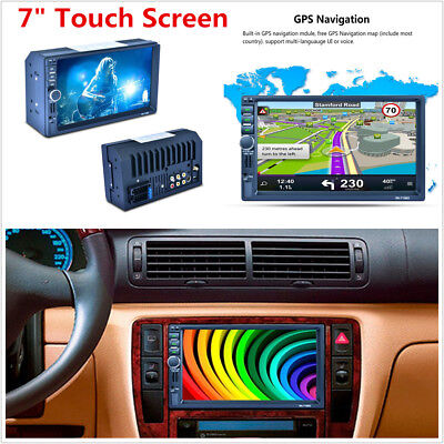 "7"" 2DIN Touch Screen MP5 Player W/GPS Bluetooth RDS Mirror Link Radio Stereo NEW"
