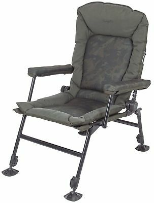 Brand New 2017 Nash Indulgence Hi Back Camo Special Chair - T9750 + £30 FOC TT