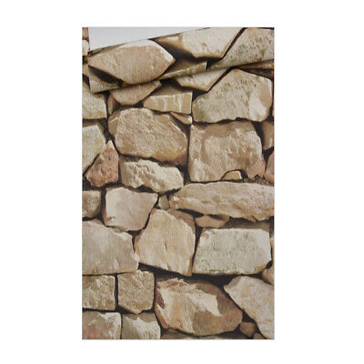 10m 3D Rocks Stone Removable Wall Decal Wall Paper Stickers Bar Home Xmas