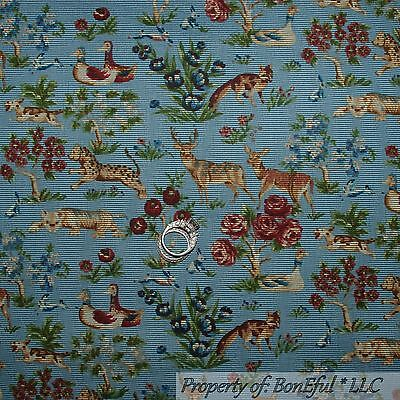 BonEful FABRIC FQ Cotton Quilt VTG Antique Boy Girl Flower Colonial Williamsburg